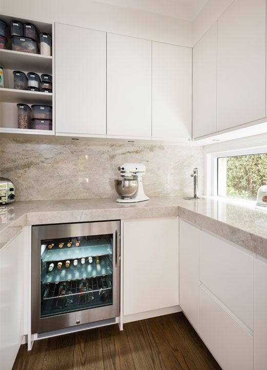 Smith & Smith Kitchens butler's pantry with wine fridge